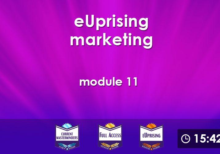 eUprising Marketing Mod 11
