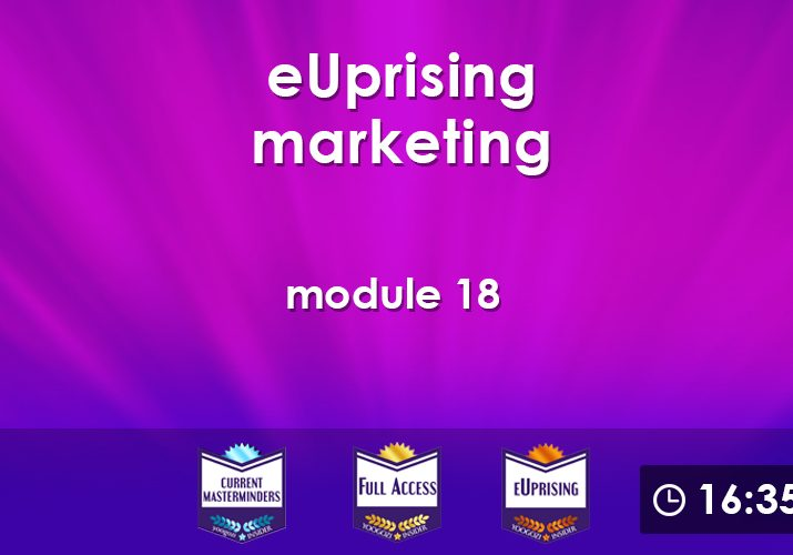 eUprising Marketing Mod 18