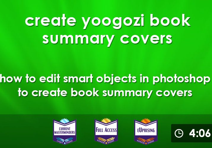 how to create yoogozi book sumarry cover